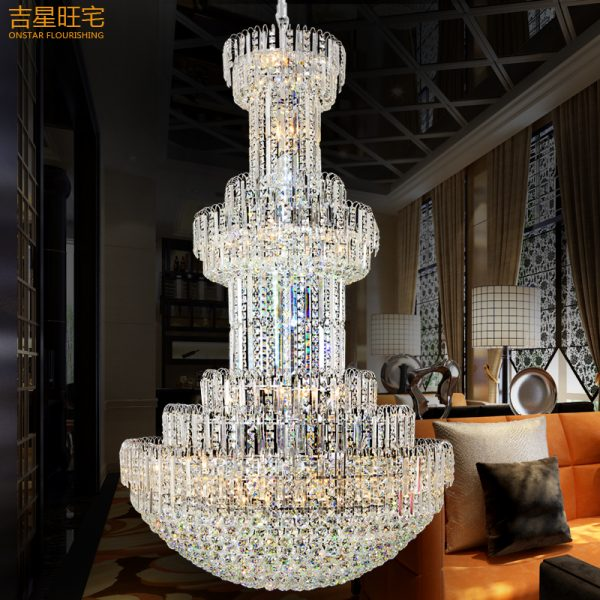 m modern crystal font b chandeliers b font luxury villa living room