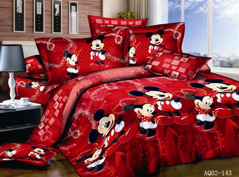 Cotton Bed Linen D Mickey Mouse Bedding Sets Minnie Kids Font B Duvet B Font