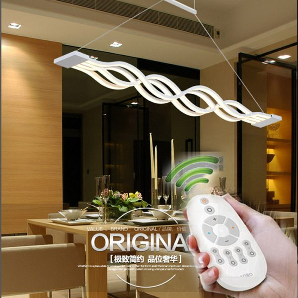 cm dimmable reomte control modern font b Chandelier b font for living room dining room bedroom