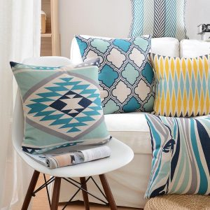 Square Nordic Geometric Cotton Linen font b Cushion b font font b Cover b font
