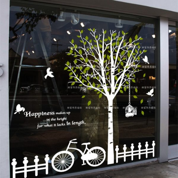 New arrival Big tree Glass font b stickers b font font b wall b font