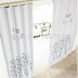 new Cartoon elephant print window font b curtain b font for living room font b