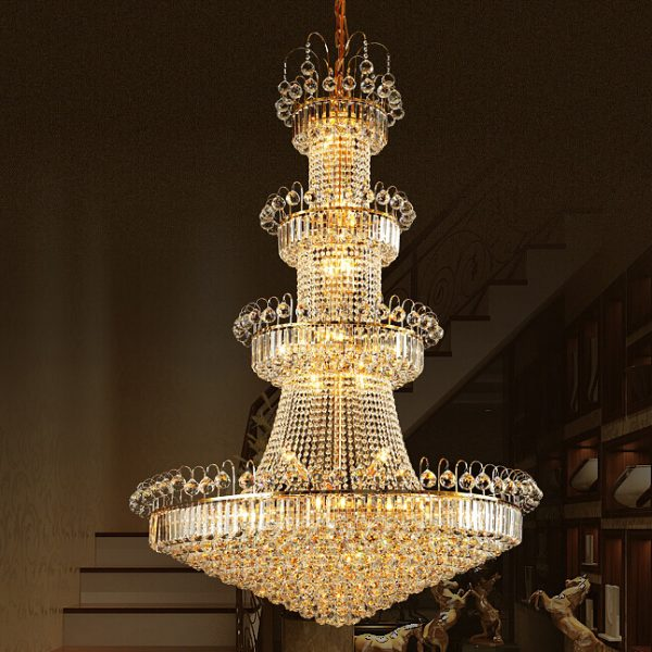 Luxury K crystal font b chandelier b font lamp Large font b chandelier b font