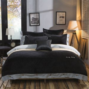 MECEROCK New Design Winter Bedding Set Fleece Crystal Cashmere font b Duvet b font font