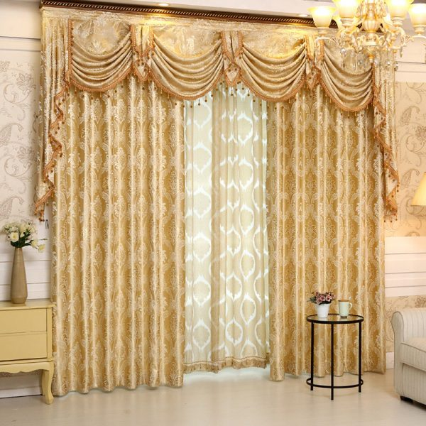 Set New Europe Style font b Curtains b font Luxury Jacquard font b Curtains b