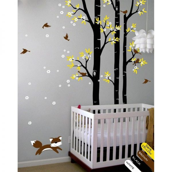 NEW Tree font b wall b font decal fox birds font b wall b font