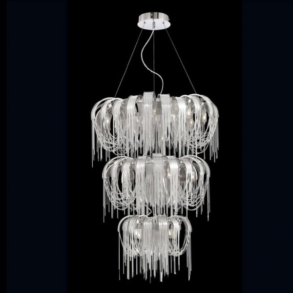New design LED aluminum luxury light murano font b chandeliers b font DiaxHmm customized large