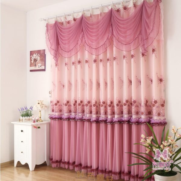 PCS Warm Pastoral high grade Lace font b Curtains b font For Bedroom Living Dining room