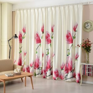 x  meter Korean style Luxury flower d font b curtains b font for bedroom rustic