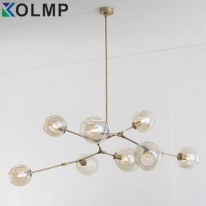 heads Glass ball branching Drop Hanging Light Modern Glass Bottle