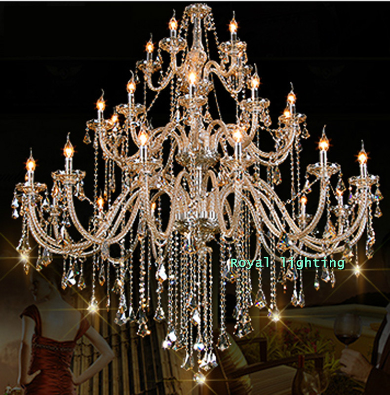 30 arms luxury chandelier villa hotel large crystal chandelier d150 arms luxury font b chandelier b font villa hotel large crystal font b chandelier b aloadofball Image collections