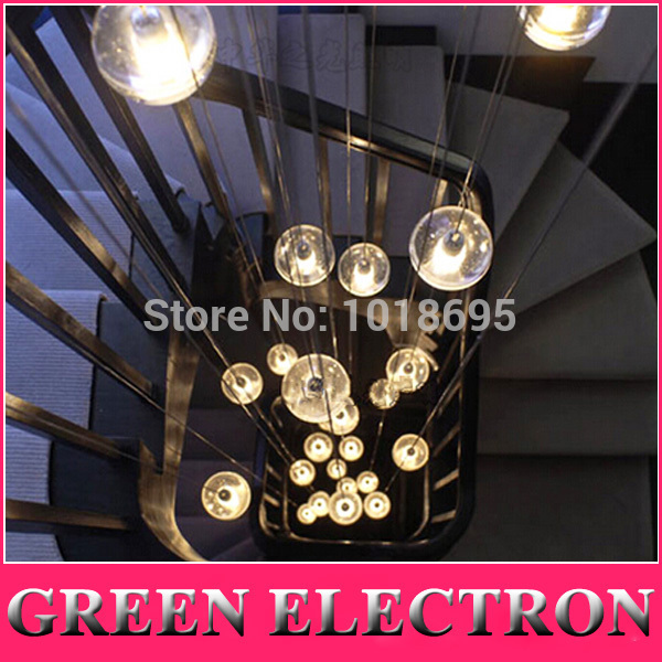 Lights High Quality Meteor Crystal font b Chandelier b font Light Fixtures Magic Crystal Ball