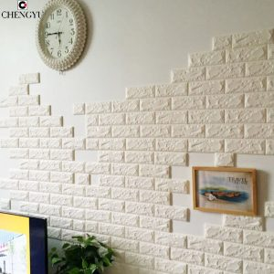 D Elasticity Brick Grain Foam Stone Brick Self adhesive Wallpaper DIY font b Wall b font