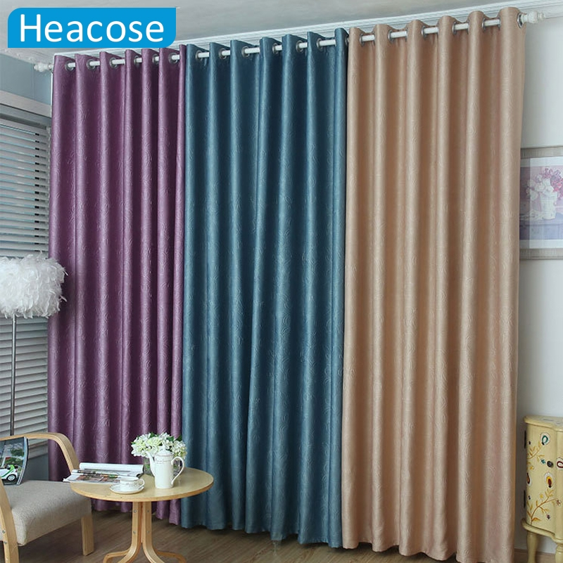 3m polyester flannelette 3d embossing window curtain for B m living room curtains
