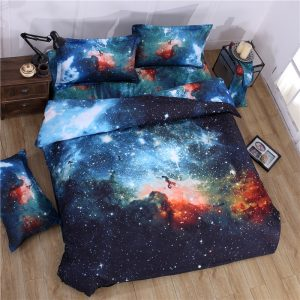 d Galaxy bedding sets Twin Queen Size Universe Outer Space Themed Bedspread pcs pcs Bed Linen
