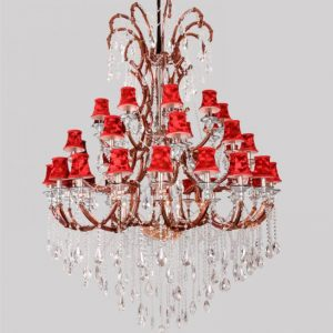 arm large church font b chandelier b font Led commercial lighting Resort Foyer pendant crystal