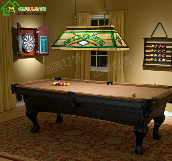 American Wind Gedifuni pool table lamps glass font b chandelier b font fashion classic rectangular restaurant