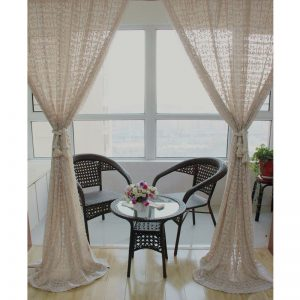 American cotton Pure crochet Openwork stitching crocheted lace font b curtains b font Bedroom font b