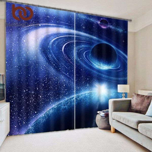 BeddingOutlet Universe font b Curtain b font D Galaxy Surprise Gift for Home Kids Room font