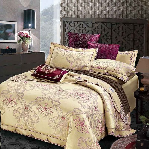 Brand SILK PLACE Bedding Set Satin Luxury Bedding Sets Cotton High Quality Jacquard Comfortable Bedding font
