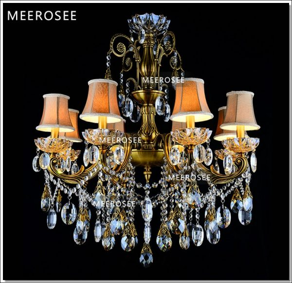 Bronze Finished Antique Crystal font b Chandelier b font Lingting Luxurious Brass Crystal Lamp Lustre Suspension