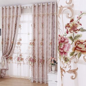 Chinese style quality water soluble embroidery font b curtains b font embroidered window screening customize finished