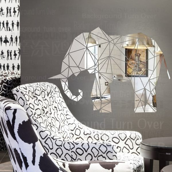 Creative D Animal Reflective Acrylic Mirror Decorative font b Wall b font font b Sticker b
