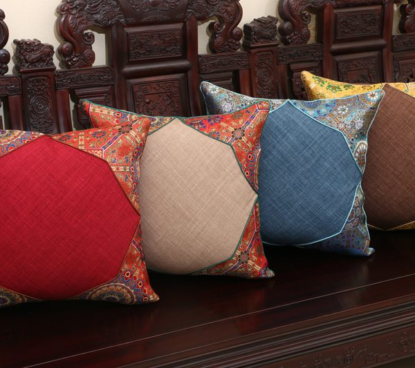 Creative Patchwork Rustic font b Cushion b font font b Cover b font Office Car Lumbar