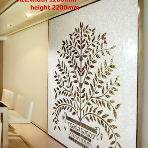 Customized handmade mosaic art mother of pearl mosaic tile art murals for interior house decoration tree