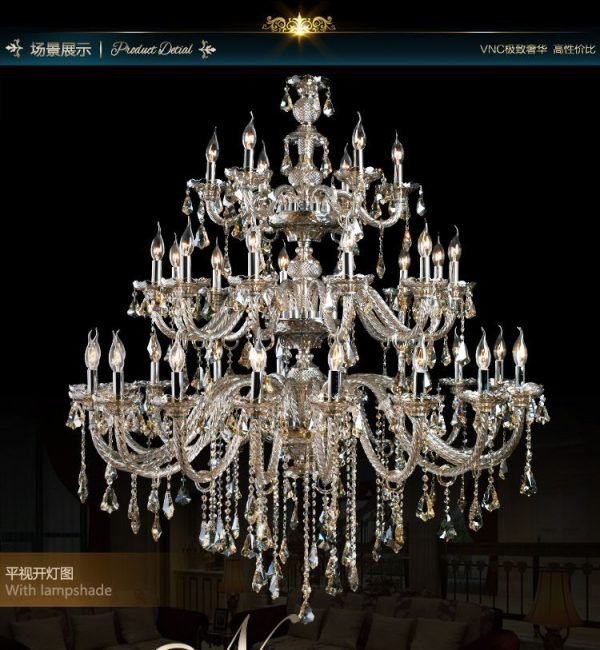 Dmm  Arms Royal Crystal font b Chandelier b font Hotel Light Ordered by Shangri La