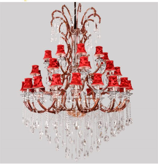 Duplex house  lights large font b chandelier b font Led candle lamp modern crystal font