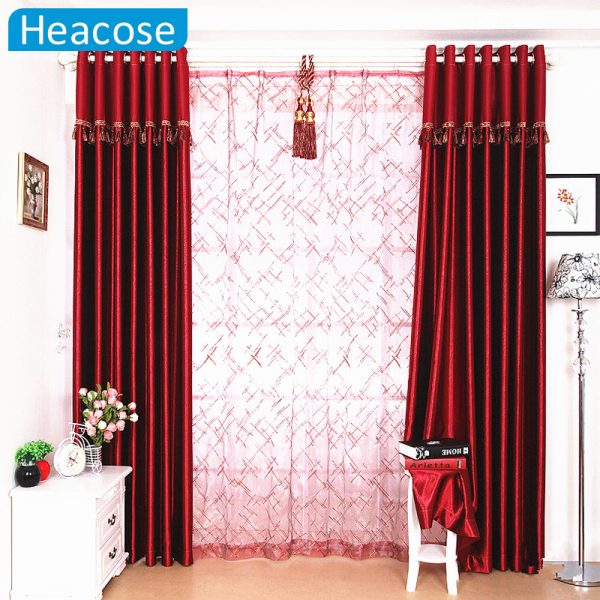Embossed Customized Thick font b Curtains b font For living Room Bedroom Blackout font b Curtain