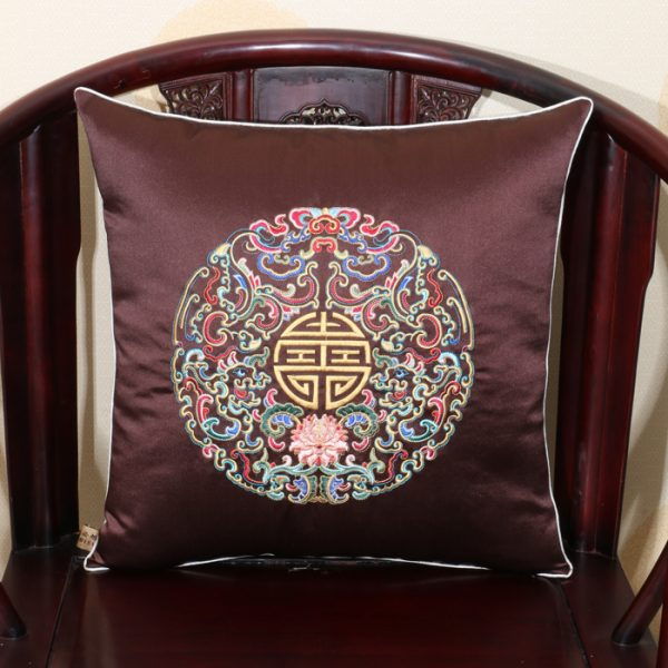Embroidery Eight groups Dragon font b Cushion b font font b Covers b font Luxury Lumbar