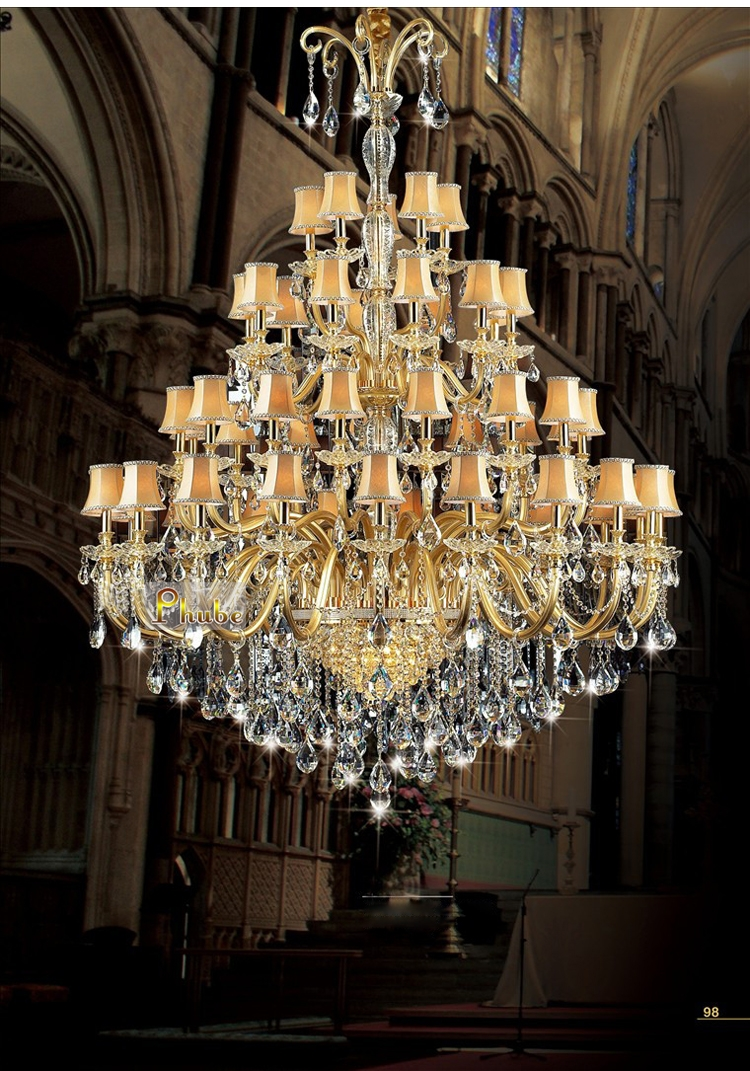 European Luxury Crystal Chandelier Light Penthouse