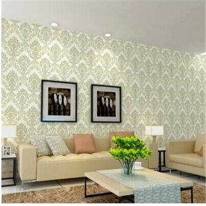 European font b Damascus b font font b wallpaper b font embossed pvc film thicker living