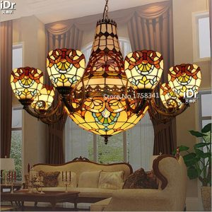 European glass font b chandelier b font bedroom lamp cozy living room lamp lighting atmosphere font
