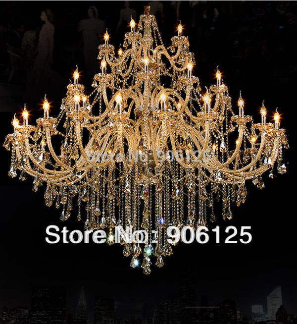 European style Large Foyer Luxury Crystal font b Chandelier b font Staircase font b Chandelier b
