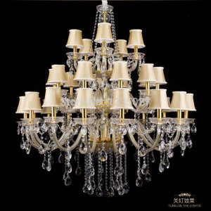 Factory Direct Selling Hotel Clear Candle crystal Light font b Chandelier b font K Crystal Dmm