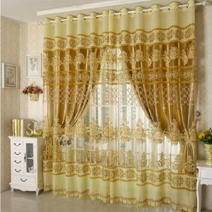 Fashion brief floral font b curtain b font window screening full shade font b curtain b