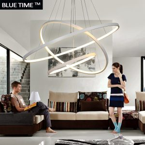 Fashional super thin Modern font b chandeliers b font circle rings led font b chandelier b