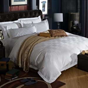 Five Stars Hotel  cotton satin Luxury white hotel bed linen bedspreads elegant bedding set font