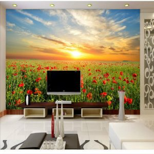 Flowers decorative painting large murals TV backdrop font b wallpaper b font   square meter