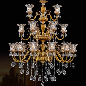 Free Shipping Brass K Crystal font b Chandelier b font Copper LED font b Chandelier b