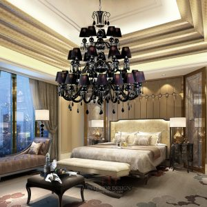 Free shipping lights black Led candle font b chandelier b font Lustres de cristal vintage