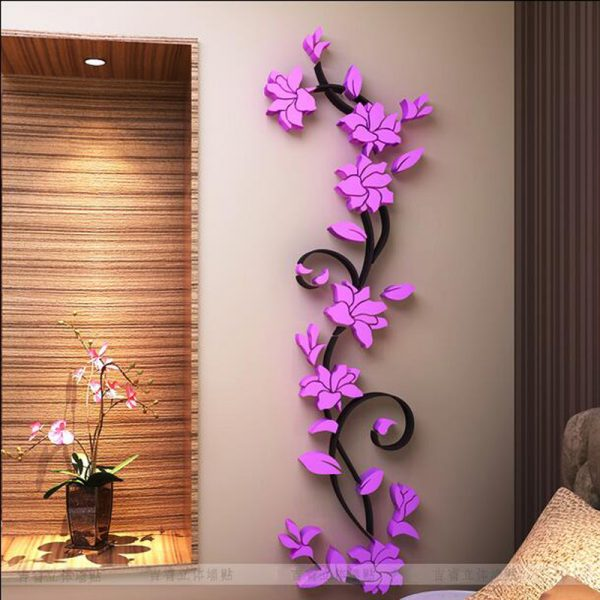 Free shipping Flower Hot Sale font b wall b font font b stickers b font home