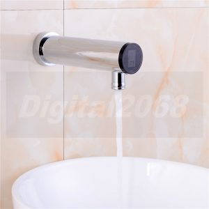 Free shipping Newest Brass Chrome Wall Mounted Hot and Cold Mixer Sensor font b Basin b