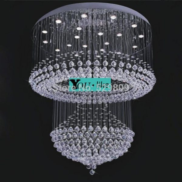 Free shipping large hotel lighting Dia Hmm modern design lustre crystal font b chandelier b font