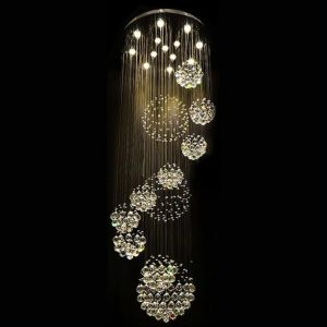 Free shipping new modern PCS lustre crystal ball design font b chandelier b font large lustres