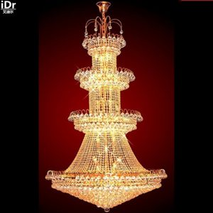Gold font b Chandeliers b font crystal lamp lighting luxury hotel lamp light lobby modern Dcm