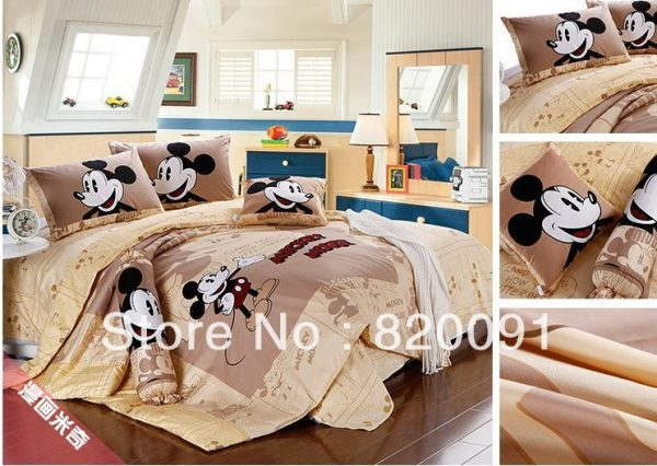 HOT Cartoon Happy Mickey Mouse Bedding font b Duvet b font font b Cover b font